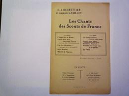 """GP 2019 - 1657  Les Chants Des Scouts De France  :  """" Quand Mon Papa...""""    XXXXX - Non Classés"""