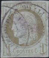 France  .   Yvert    .    39  (2 Scans)       .   O    .    Oblitéré   .   /   .    Cancelled - 1870 Emission De Bordeaux