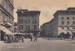 LIVORNO-VIA RICASOLI-CARTOLINA VIAGGIATA 18-9-41952 - Livorno