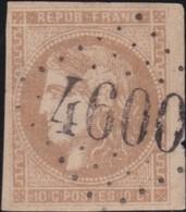 France  .   Yvert    .    43  (2 Scans)       .   O    .    Oblitéré   .   /   .    Cancelled - 1870 Emissione Di Bordeaux