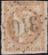 France  .   Yvert    .    43  (2 Scans)       .   O    .    Oblitéré   .   /   .    Cancelled - 1870 Emission De Bordeaux