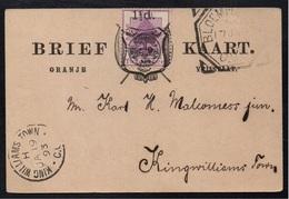 ORANGE - ORANJE - BLOEMFONTEIN / 1893 CARTE POSTALE POUR KING WILLIAMS TOWN (ref 7020) - Afrique Du Sud (...-1961)