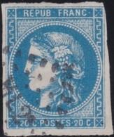 France  .   Yvert    .    46B         .   O    .    Oblitéré   .   /   .    Cancelled - 1870 Bordeaux Printing