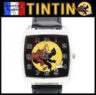 Montre à Quartz NEUVE Bracelet Cuir ! ( Watch ) - Tintin - Watches: Modern