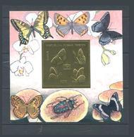 Georgia Hussar Papillons Iryston Insectes Carton Doré Perforé MNH - Géorgie