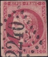 France  .   Yvert    .    49   (2 Scans)         .   O    .    Oblitéré   .   /   .    Cancelled - 1870 Emission De Bordeaux