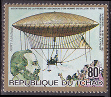 Timbre PA Neuf ** N° 257(Yvert) Tchad 1983 - Ascension D'un Homme En Ballon, Giffard - Tsjaad (1960-...)