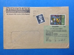 1973 GRAN BRETAGNA GREAT BRITAIN BUSTA POSTAL HISTORY 2 STAMPS - 1952-.... (Elisabetta II)