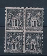N-524 FRANCE:  Lot  Avec N° 89* (bloc De 4 * Consolidé)) - 1876-1898 Sage (Type II)