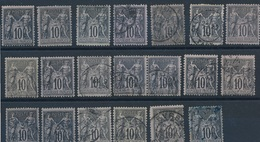 N-525 FRANCE:  Lot  Avec N° 89 Obl (18 +2*) - 1876-1898 Sage (Type II)