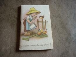 """Mini Calendrier (3,5 X 6 Cm) 1951 """"comment Trouves-tu Mes Tulipes ?"""" Parfumerie Duriez à Albert 80 Somme - Calendarios"""