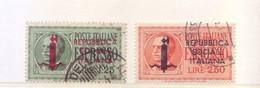 Italia 1944 - Espressi, 2v Usati - 4. 1944-45 Repubblica Sociale