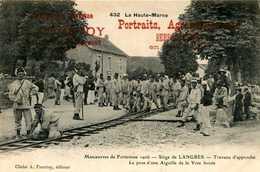 LANGRES (siège De)= Manoeuvres De Forteresse 1906 Travaux D'approche La Pose D'une Aiguille(PUB A POURTOY Chaumont) 818 - Langres