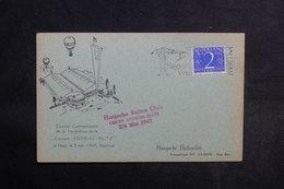 PAYS BAS - Carte Postale Par Ballon En 1947 , Cachet Et Affranchissement Plaisant - L 33869 - Periode 1891-1948 (Wilhelmina)