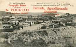 LANGRES (siège De) = Manoeuvres De Forteresse 1906 Débarquement Du Matériel(PUB A POURTOY Chaumont) 819 - Langres