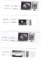 4 Timbres Personnalisés Oblitérés Sur Fragment - Mon Timbre En Ligne - 0,55€ Et 0,60€ - France