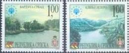 BHRS 2001-222-3 SAVE EUROPE NATURE, BOSNA AND HERZEGOVINA-R.SRPSKA, 1 X 2v + Labels, MNH - Bosnien-Herzegowina