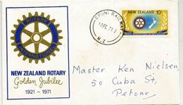 New-Zealand Rotary Golden Jubilee (cinquantenaire)  Sur Lettre Nouvelle-Zélande - Rotary, Club Leones
