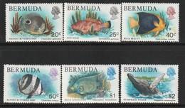 BERMUDES - 6 Timbres ** (1978) Poissons - Bermuda