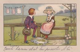 Bambini  ,  Allo Steccato  -  Ill.  M. Sowerby  -  Edit.  BD    N°  169 B - Illustratori & Fotografie