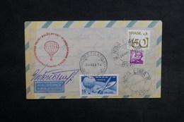 BRÉSIL - Enveloppe Par Ballon En 1974 , Affranchissement Et Cachets Plaisants - L 33878 - Cartas