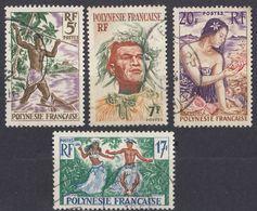POLYNESIE Française - 1958/1960 - Lotto Di 4 Valori Usati: Yvert  5, 7, 10 E 11. - Polinesia Francese