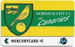 UK (Paytelco) - Football Clubs - Norwich City Logo - 3PFLS, 5.900ex, Used - Reino Unido
