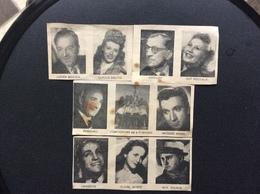 10 ACTRICES & ACTEURS Découpage Presse Compagnons De La Chanson *Jacques Morel *Lucien Baroux *Max Dalban *Pasquali Etc. - Old Paper