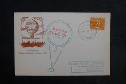 PAYS BAS - Carte Par Ballon En 1948 , Cachet Plaisant - L 33886 - Periode 1891-1948 (Wilhelmina)