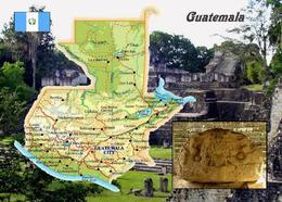 Guatemala Country Map New Postcard Landkarte AK - Guatemala