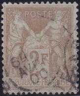 France  .   Yvert    .   105        .       O    .    Oblitéré   .   /   .    Cancelled - 1898-1900 Sage (Type III)