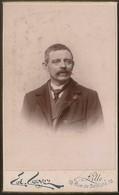 Old Photo (10,5cmx6,3cm) Old Photograph Men - Cayez Photographie Des Beaux-Arts - France Lille - Photo Ancienne Homme - Foto