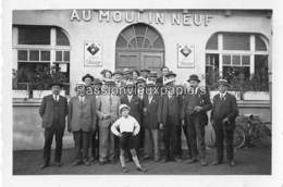 PHOTO SAINT AVOLD 1933  AU MOULIN NEUF ( RESTAURANT ? )   BIERE DE JARNY - Saint-Avold