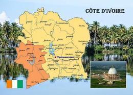 Ivory Coast Country Map New Postcard Elfenbeinküste Landkarte AK - Elfenbeinküste