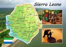 Sierra Leone Country Map New Postcard Landkarte AK - Sierra Leone