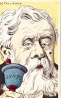 CPA Caricature Satirique Politique M. FALLIERES. Cloche Sénat Bell Illustrateur G. LION ( 2 Scans) - Satiriques