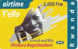 TARJETA DE RUANDA DE AIRTIME Y'ELLO DE 5000 FRW CADUCIDAD 01-12-2004 (RWANDA) - Rwanda