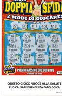 GRATTA E VINCI   - NUOVO DOPPIA SFIDA  € 5.00 - USATO (SERIE STELLA NUOCE ALLA SALUTE) - Biglietti Della Lotteria