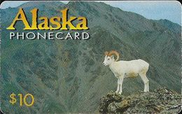 Alaska - INC - White Wild Goat - Remote Mem. 10$, 08.1997, 6.000ex, Used - Phonecards