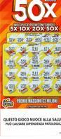 GRATTA E VINCI   - NUOVO 50 X  € 10.00 - USATO (SERIE STELLA NUOCE ALLA SALUTE) - Biglietti Della Lotteria
