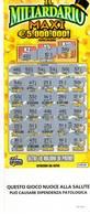 GRATTA E VINCI   - IL MILIARDARIO MAXI  € 20.00 - USATO (SERIE STELLA NUOCE ALLA SALUTE) - Biglietti Della Lotteria