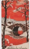 Carte De Voeux/Heureuse Année/ Petit Pont De Pierre Sous La Neige/ Vers 1920-1930   CVE154 - Nieuwjaar