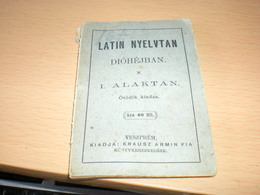 Mini Book Latin Nyelvtan Diohejban I Alaktan Veszprem  Krausz Armin Fia 1911 Old - Libros, Revistas, Cómics