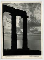 CAPE  SOUNION   SUNSET  OVER  THE  TEMPLE  OF  POSEIDON           (VIAGGIATA) - Greece