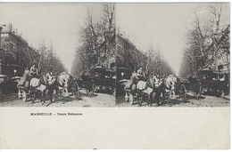 MARSEILLE - Cours Belzunce - Photo Type Stéréoscopique - Altri