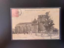 CPA.(79).MONCOUTANT. L'église. Animation.  (G Bis 830). - Moncoutant