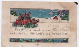 Carte Postale De Voeux/Noël/ Carte Postale/ Canada / Verdun/Diligence Roulant Sous La Neige/ 1924   CVE155 - Nouvel An