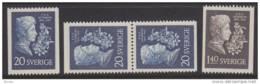 Sweden 1955 - P D A Atterbom MNH - Suède