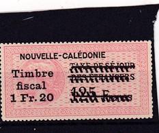 Timbre Fiscal Nouvelle-Calédonie  Médaillon De Tasset Grand Format 1.20 Franc Sur 125 Francs Neuf - France (former Colonies & Protectorates)