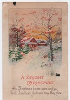 Carte De Voeux/A Bright Christmas/ Carte Postale/ Canada / Verdun/Chalets  Sous La Neige/ Vers 1925  CVE156 - Neujahr